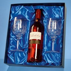 Wine bottle presentation box