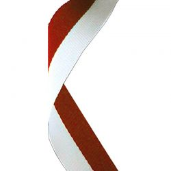 Red and white medal ribbon | Discount Trophies