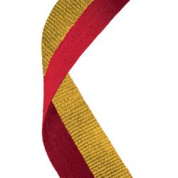 Red and gold medal ribbon | Discount Trophies