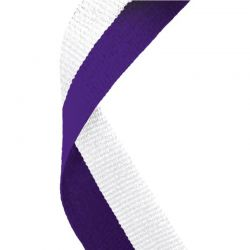 Purple and white medal ribbon | Discount Trophies