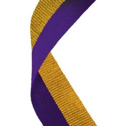 Purple and gold medal ribbons | Discount trophies