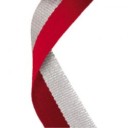 Red and grey medal ribbon | Discount Trophies