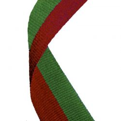 Green and red medal ribbon | Discount Trophies