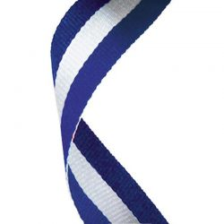 Blue and white ribbon