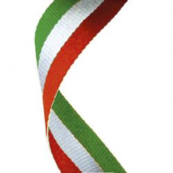 Red white and green medal ribbon | Discount Trophies