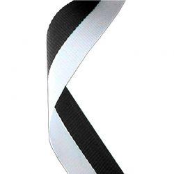 Black and White Medal Ribbon