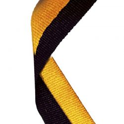 yello and black medal ribbon