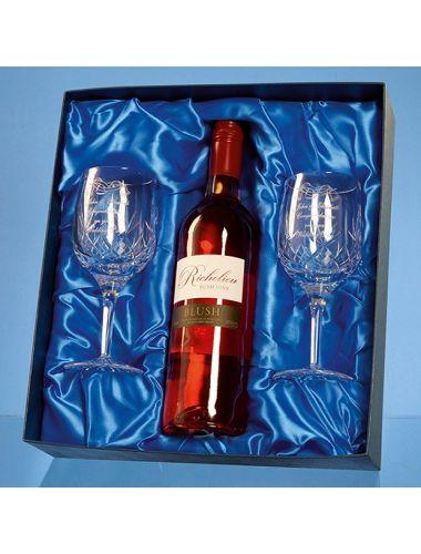 Wine bottle presentation box